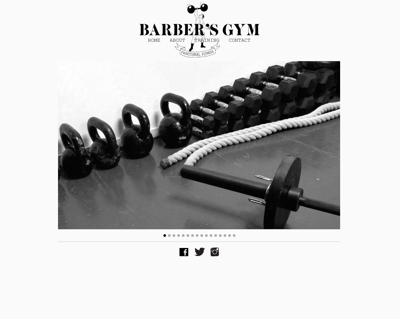 Barbers Gym - homepage responsive